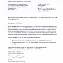 Reference Underpressure Drainage IWR GmbH in Böblingen
