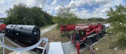Heavy duty crane chemical precipitation unit