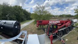 Schwerlastkran Fällmittelstation Projekt IWR Ingenieurbüro Wasserwirtschaft